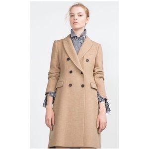 36a0eb57 Zara Jackets & Coats | Camel Masculine Coat | Poshmark